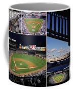 Yankee Stadium Collage Coffee Mug by Allen Beatty