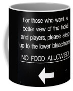 Yankee Stadium Lower Bleachers Sign Coffee Mug