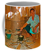Yao Mien Tribe Man In His Home With His Cooking Pot North Of Chiang Rai In Mae Salong-thailand  Coffee Mug