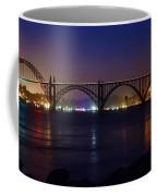 Yaquina Bay Bridge At Night Coffee Mug