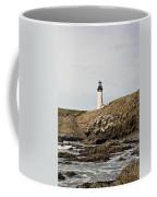 Yaquina Head Lighthouse From The Beach Coffee Mug