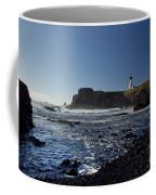 Yaquina Lighthouse And Beach No 1 Coffee Mug