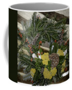 Yarrow And Lotus Wreath Squared Coffee Mug