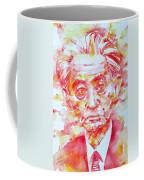 Yasunari Kawabata Watercolor Portrait Coffee Mug
