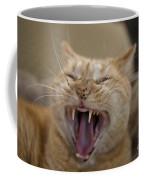 Yawning Cat Coffee Mug