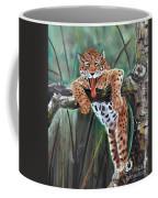 Yawning Leopard Coffee Mug