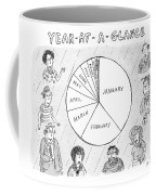 Year At A Glance--a Pie Chart Of The Months Coffee Mug