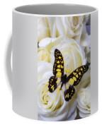 Yellow And Black Butterfly Coffee Mug