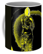 Yellow And Black Woman Coffee Mug