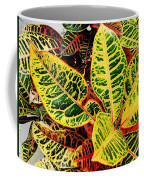 Yellow And Green Croton Coffee Mug
