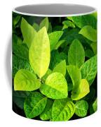 Yellow And Green Leaves Coffee Mug