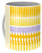 Yellow And Grey Tie Dye Coffee Mug