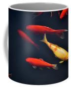Yellow And Orange Koi Swimming Coffee Mug