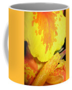 Yellow And Orange Petals Illuminated Coffee Mug
