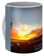 Yellow And Orange Sunset Coffee Mug