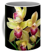 Yellow And Pink Orchids Coffee Mug