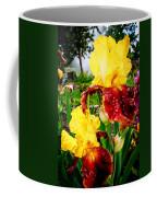 Yellow And Purple Iris Coffee Mug