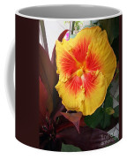Yellow And Red Hibiscus Coffee Mug