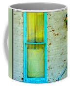 Art Deco Lamp And Yellow And Turquoise Window Coffee Mug