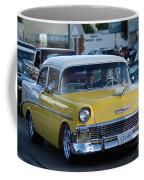 Yellow And White Classic Chevy Coffee Mug
