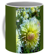Yellow And White Dahlia Flowers Coffee Mug