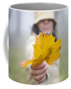 Yellow Autumn Leaf Coffee Mug