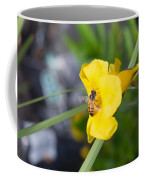 Yellow Bell Flower With Honeybee Coffee Mug