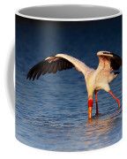 Yellow-billed Stork Hunting For Food Coffee Mug