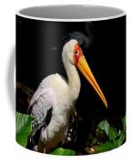Yellow Billed Stork Peers At Camera Coffee Mug