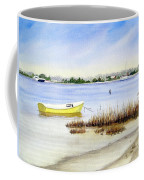 Yellow Boat I Coffee Mug