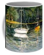 Yellow Boat Sister Bay Coffee Mug
