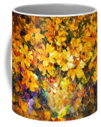 Yellow Bouquet - Palette Knife Oil Painting On Canvas By Leonid Afremov Coffee Mug
