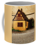 Yellow Building And Wall In Rothenburg Germany Coffee Mug