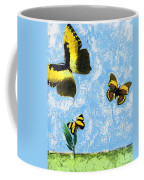 Yellow Butterflies - Spring Art By Sharon Cummings Coffee Mug