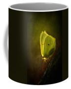 Yellow Butterfly Sitting On The Moss  Coffee Mug