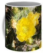 Yellow Cactus Blooms And Buds Coffee Mug