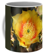 Yellow Cactus Flower Square Coffee Mug