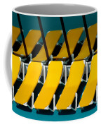 Yellow Chairs Reflected Coffee Mug by Amy Cicconi