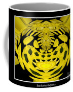 Yellow Chrysanthemums Polar Coordinates Effect Coffee Mug