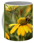 Yellow Coneflower And Bee Coffee Mug