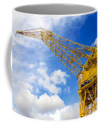 Yellow Crane And Sky Coffee Mug