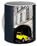 Yellow Deux Chevaux In Shadow Coffee Mug