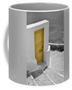 Yellow Door Of Oia Coffee Mug