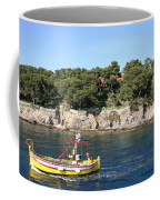 Yellow Fishing Boat - Cote D'azur Coffee Mug