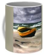 Yellow Fishing Dory Before The Storm Coffee Mug