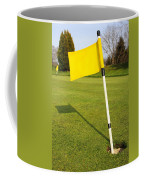 Yellow Flag On The Green Coffee Mug