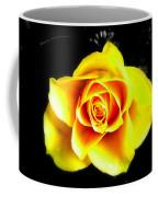 Yellow Flower On A Dark Background Coffee Mug