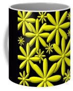 Yellow Flower Power 3d Digital Art Coffee Mug