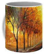 Yellow Fog - Palette Knife Oil Painting On Canvas By Leonid Afremov Coffee Mug