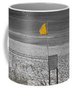 Yellow Hazard Coffee Mug by Susan Leggett